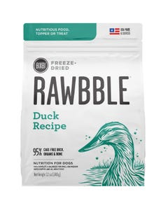Bixbi Rawbble Freeze Dried Dog Food - Duck