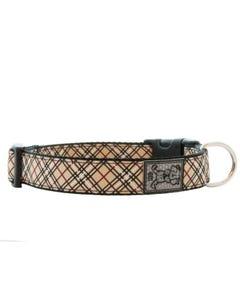 RC Adjustable Dog Collar - Tan Tartan