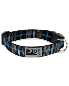 RC Pet Dog Collar - Black Twill Plaid