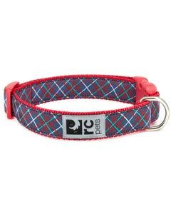 RC Pet Dog Collar - Navy Tartan