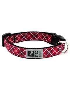 RC Pet Dog Collar - Red Tartan