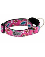 RC Pet All Webbing Training Collar - Pink Comic Sounds