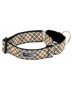 RC Pet All Webbing Training Collar - Tan Tartan