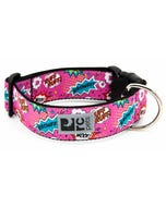 RC Pet Wide Clip Collar for Dogs - Pink Comic Sounds