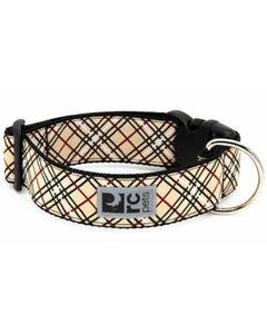 RC Pet Wide Clip Collar for Dogs - Tan Tartan