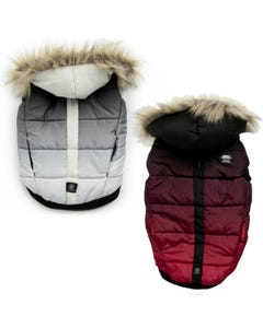 Silver Paw Quilted Puffer Jacket