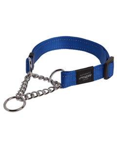 Rogz Martingale Dog Collar - Blue