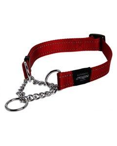 Rogz Martingale Dog Collar - Red