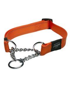 Rogz Martingale Dog Collar - Orange