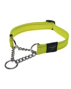 Rogz Martingale Dog Collar - Yellow
