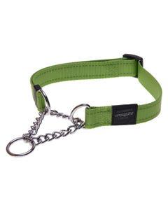 Rogz Martingale Dog Collar - Lime Green