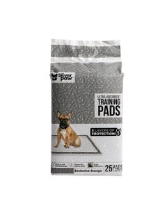 Silver Paw Black & White Training Pads - 25 Count