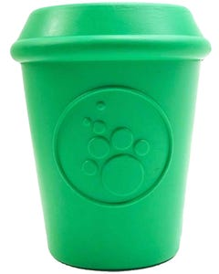 Sodapup SP Coffee Cup Durable Rubber Chew Toy and Treat Dispenser for Dogs