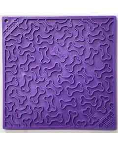 Sodapup Bones Design Emat Enrichment Licking Mat - Purple