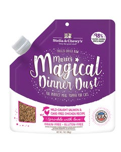 Stella & Chewy's Marie's Magical Dinner Dust - Wild-Caught Salmon & Cage-Free Chicken for Cats