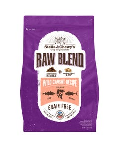 Stella & Chewy's Raw Blend Kibble for Cats - Wild-Caught Recipe - Front of Packaging
