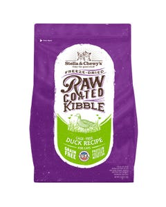 Stella & Chewy's Raw Coated Kibble for Cats - Cage-Free Duck Recipe - Front of Packaging