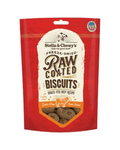 Stella & Chewy's Raw Coated Dog Biscuits - Grass-Fed Beef Recipe