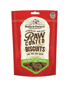 Stella & Chewy's Raw Coated Dog Biscuits - Cage-Free Duck Recipe