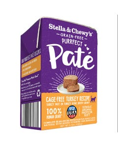 Stella & Chewy's Grain-Free Purrfect Paté Wet Food for Cats - Cage-Free Turkey