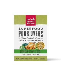 The Honest Kitchen SuperFood Pour Overs for Dogs - Chicken Stew With Spinach, Kale & Broccoli
