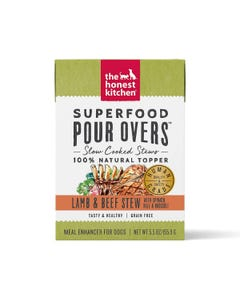 The Honest Kitchen SuperFood Pour Overs for Dogs - Lamb & Beef Stew With Spinach, Kale & Broccoli