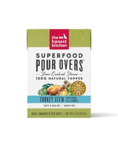 The Honest Kitchen SuperFood Pour Overs for Dogs - Turkey Stew With Spinach, Kale & Broccoli