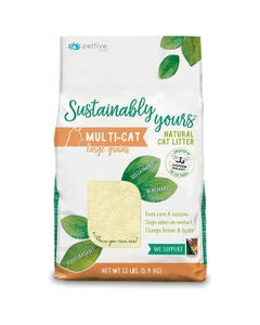 Petfive Sustainably Yours Natural Cat Litter - Multi-Cat Large Grains