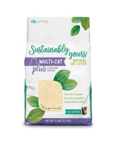 Petfive Sustainably Yours Natural Cat Litter - Multi-Cat Plus Extra Odor Control
