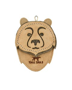 Tall Tails Natural Leather Bear Tug Dog Toy
