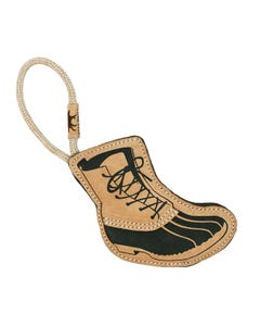 Tall Tails Natural Leather Bean Boot Tug Dog Toy