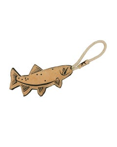 Tall Tails Natural Leather Trout Tug Dog Toy