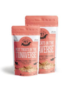 The Granville Island Pet Treatery - Best Treats in the Tunaverse - two sizes