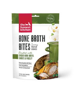 The Honest Kitchen Bone Broth Bites Dog Treats - Roasted With Chicken Bone Broth & Carrots
