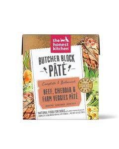 The Honest Kitchen Butcher Block Pâté Wet Dog Food - Beef, Cheddar & Farm Veggies