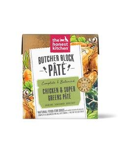 The Honest Kitchen Butcher Block Pâté Wet Dog Food - Chicken & Super Greens