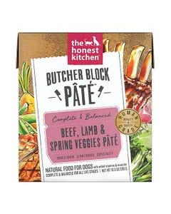 The Honest Kitchen Butcher Block Pâté Wet Dog Food - Beef, Lamb & Spring Veggies