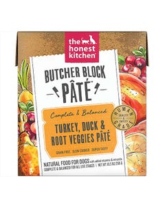 The Honest Kitchen Butcher Block Pâté Wet Dog Food - Turkey, Duck & Root Veggies