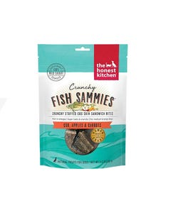 The Honest Kitchen Crunchy Fish Sammies - Cod Stuffed With Carrots & Apples Dog Treats