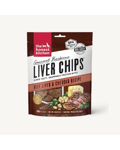 The Honest Kitchen Gourmet Barbecue Liver Chips - Beef Liver & Cheddar