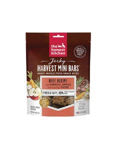 The Honest Kitchen Jerky Harvest Mini Bars - Beef Recipe with Carrots & Apples