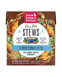 The Honest Kitchen One Pot Stews Wet Dog Food - Tender Turkey Stew With Quinoa, Carrots & Broccoli