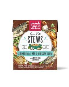 The Honest Kitchen One Pot Stews Wet Dog Food - Simmered Salmon & Chicken Stew With Brown Rice & Broccoli