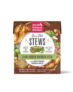 The Honest Kitchen One Pot Stews Wet Dog Food - Slow Cooked Chicken with Sweet Potatoes, Spinach & Apples