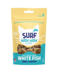 Hare of the Dog Surf Kitty Kitty Freeze Dried Whitefish Krill Coated Cat Treats
