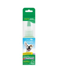 TropiClean Fresh Breath Oral Care Gel for Dogs With Berry Flavoring