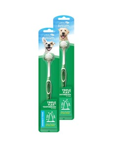 TropiClean Tripleflex Toothbrush for Dogs