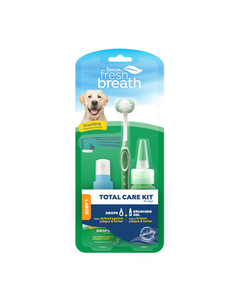 TropiClean Fresh Breath Total Care Brushing Kit for Dogs - Large