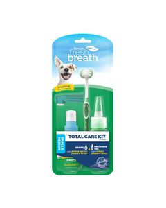 TropiClean Fresh Breath Total Care Brushing Kit for Dogs - Sm/Md