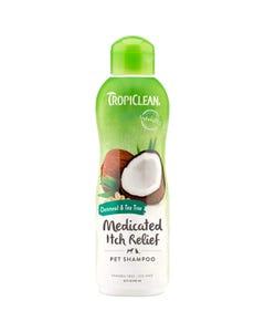 Tropiclean Oatmeal & Tea Tree Medicated Itch Relief Pet Shampoo